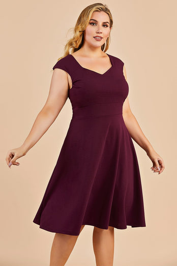 Bourgogne Plus Size Homecoming Party Dress