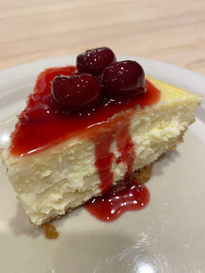 NY Cheesecake with Cherry Compote