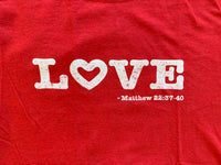 Love Crew Neck Tee Shirt