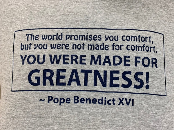 Made for Greatness Crew Neck Tee Shirt