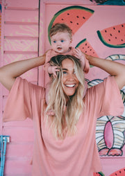 Paros Mama Tee - Dusty Pink