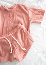 Paros Mini Shorts - Dusty Pink
