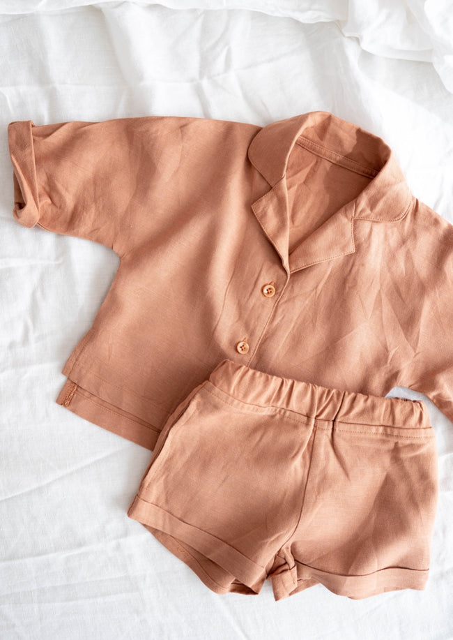 Milos Mini Top - Terracotta
