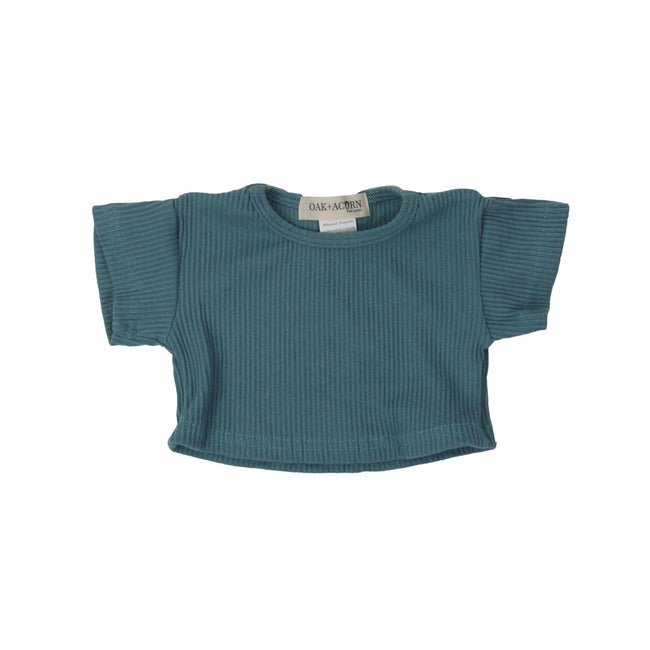 Crop-shirt-top-blue-sleeves-boy-girl-newborn-unisex-baby-ribbed