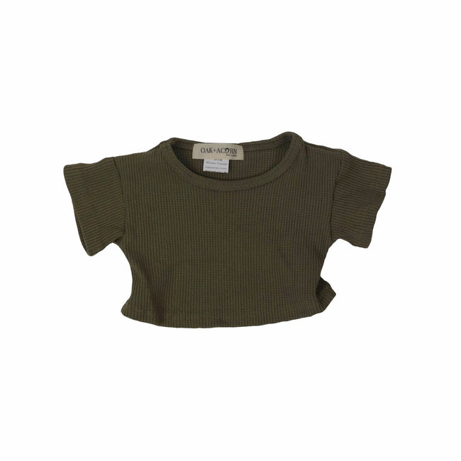 Crop-shirt-top-green-sleeves-boy-girl-newborn-unisex-baby-ribbed