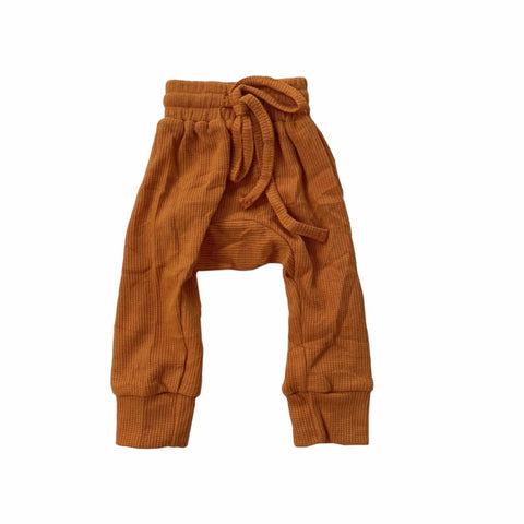 mustard-trackpants-pants-cosy-boy-girl-newborn-unisex-baby-drawstring-waist-band-ribbed-drop-crotch