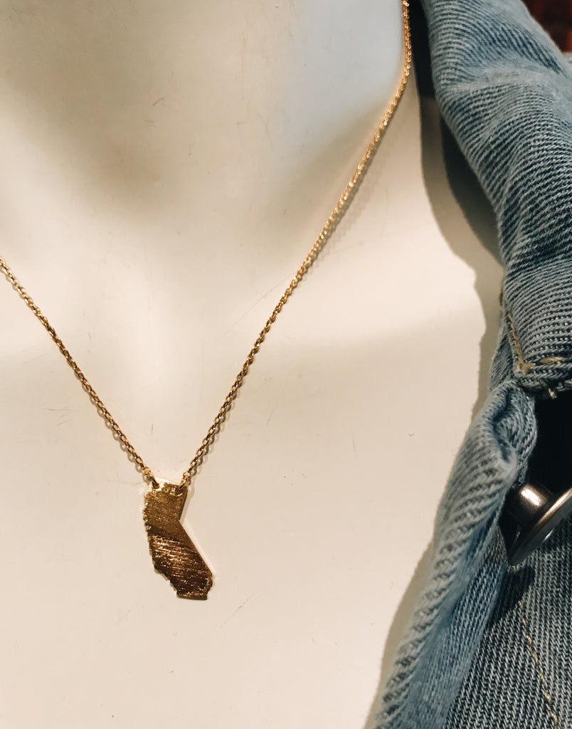 California Golden State Necklace In Gold and Rose Gold