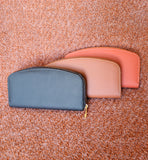 Classic Vegan Leather Curved Wallet: Three Colors !