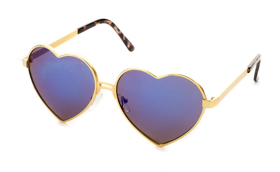 Eye Heart You Sunglasses In Gold