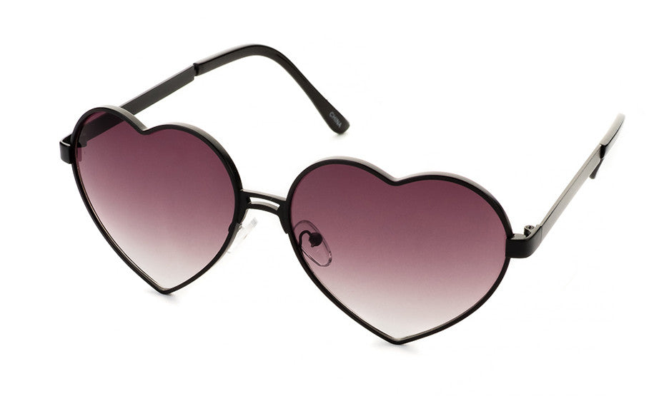 Eye Heart You Sunglasses In Black