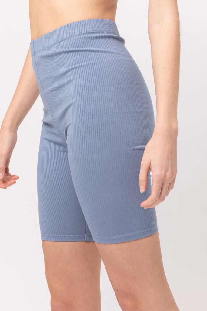 Perfectly Soft Ribbed Bike Short 4 Colors Avail (Black,Mauve,Blue,Grey)