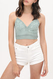 Crochet Crop Top in Soft Sage Mint