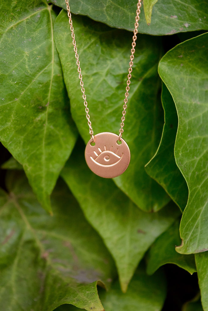 Golden Eye Dainty Necklace