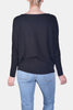 Sleek Dolman Pullover Ultra Soft Sweater in Black
