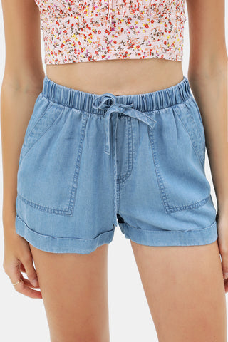 Easy Peasy Fold Hem Short In Black