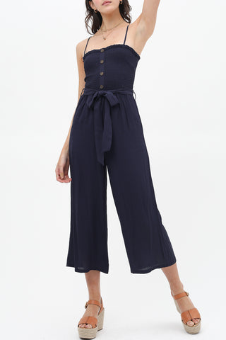 Coveted Mix Print Tie Back Jumpsuit