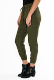 Drawstring Linen Joggers: Olive