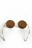 Classic Round Sunnies: Gold/Amber Mirror