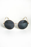 Classic Round Sunnies: Gold/Smoke Solid