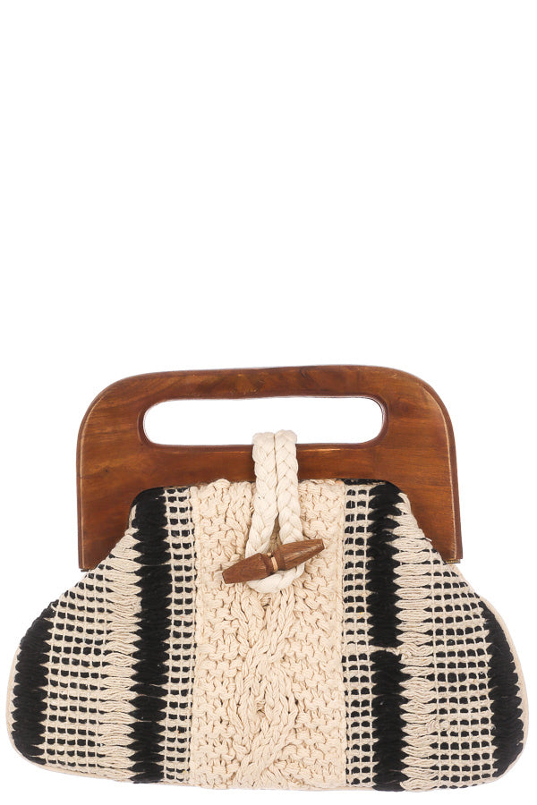Meet Me There Braided Wood Handle Handbag