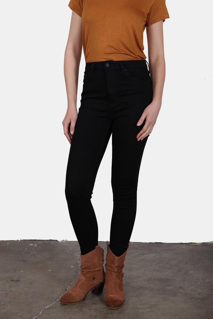 High Rise Black Denim Jeans