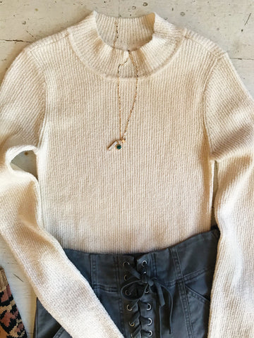 Lived In Softest Perfect Length Sweater In Olive