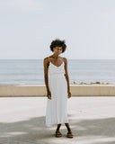 Bohemian Dreams White Cotton Maxi Dress