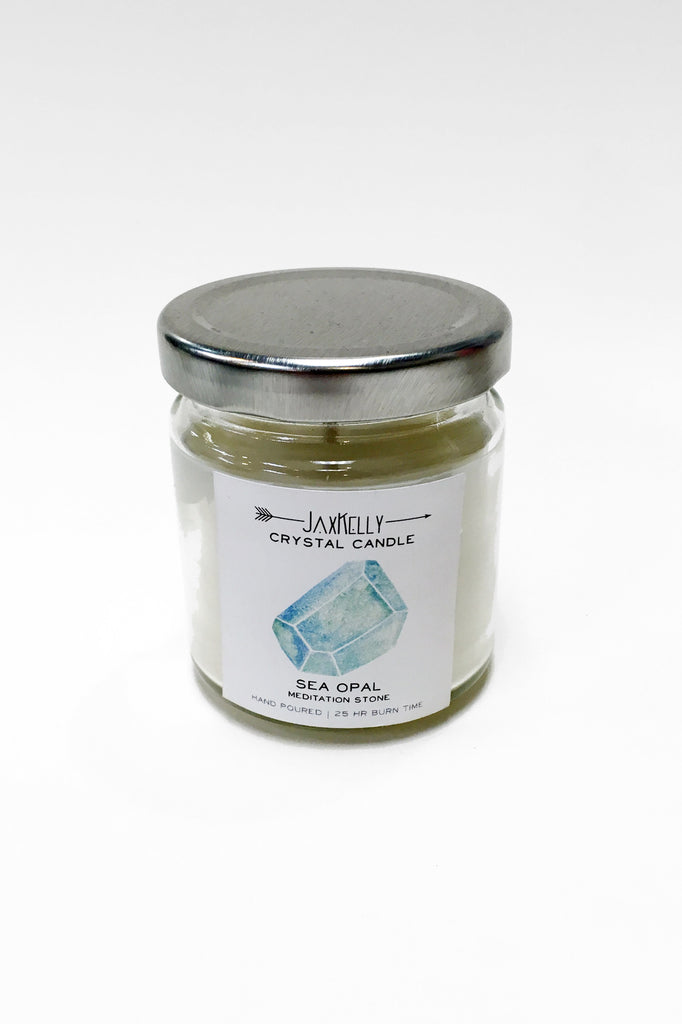 Crystal Candle: Sea Opal