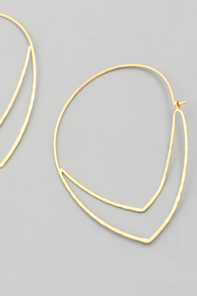Chevron Hoop Earring In Gold