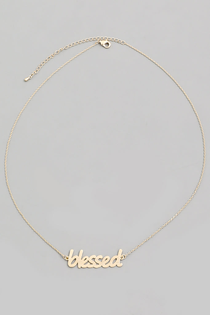 Blessed Dainty Necklace In Gold