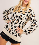 Soft Leopard Print Pullover Sweater