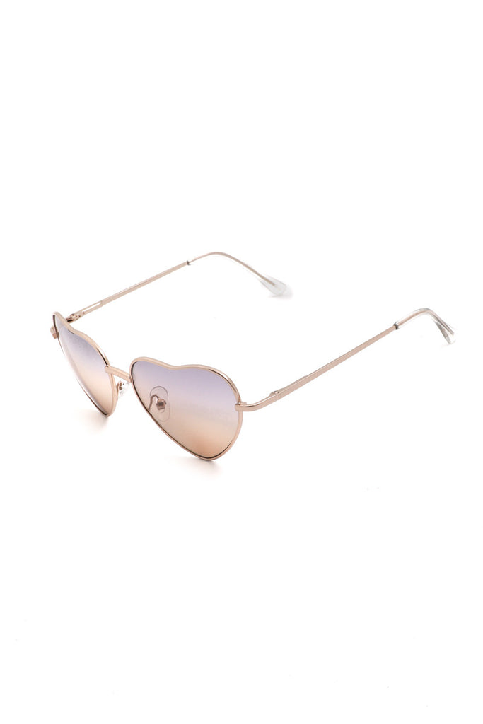 Hearts In My Eyes Sunglasses in Sunset Hue