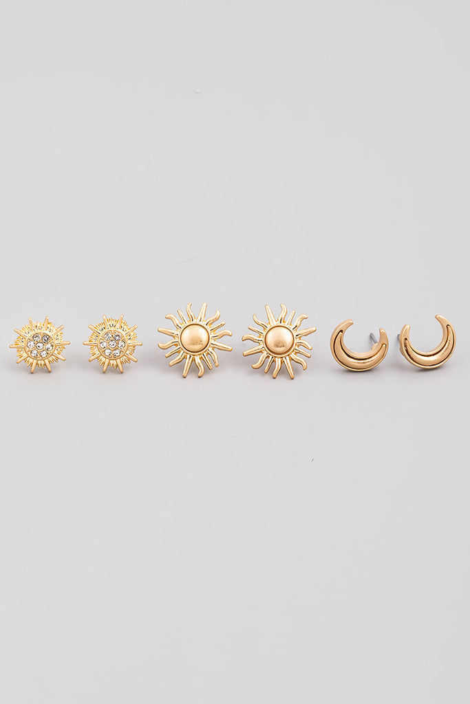 Sun, Moon, Stars Earring Set