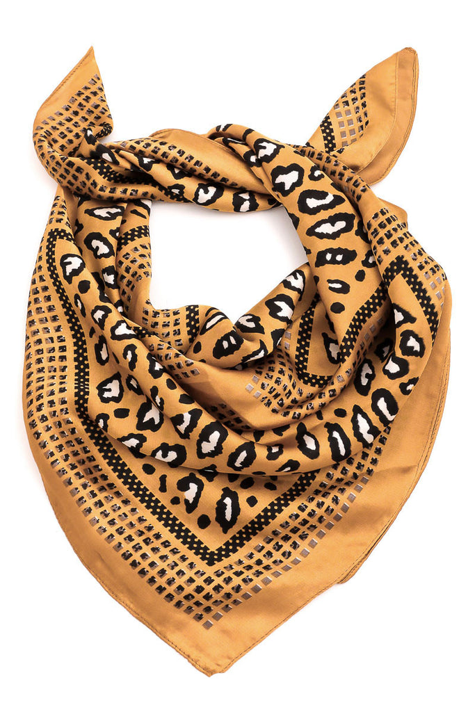 Multi Use Classic Bandana In Animal Print