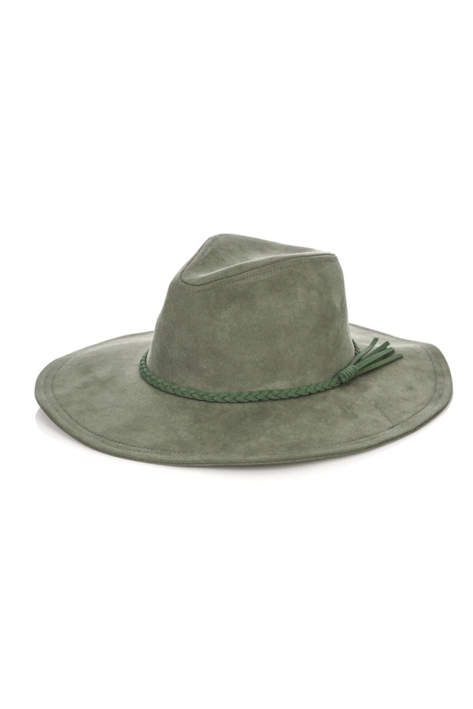 Joshua Tree (Vegan) Suede Hat In Olive