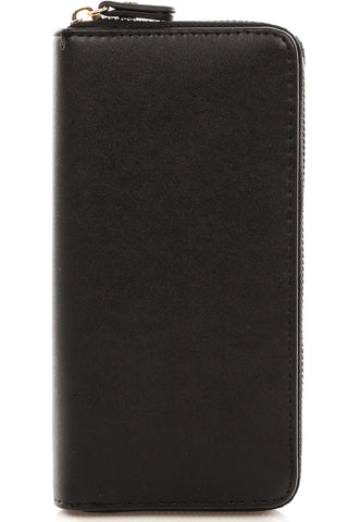 Vegan Leather Arrow Wallet in Saddle Brown