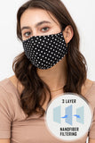Polka Dot Face Mask With Interior Filter Pocket