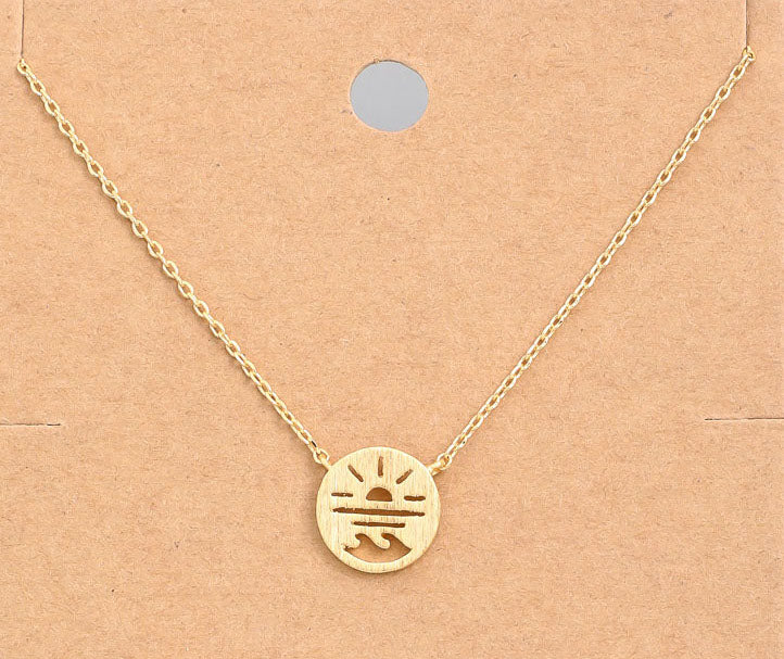Sun, Sand, Surf Necklace In Gold