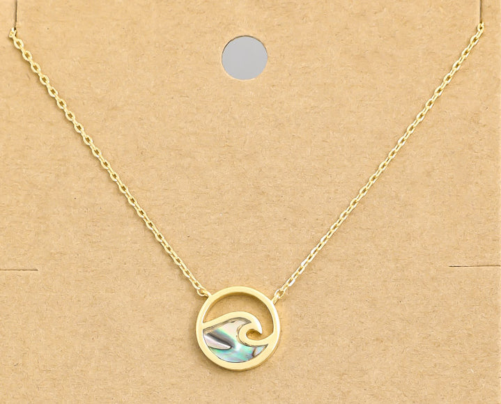 Seaside Dainty Abalone Shell Necklace