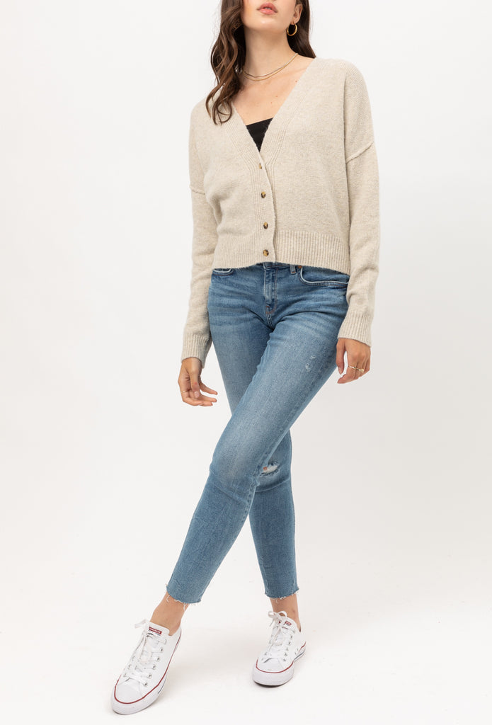 Yours Truly Cardigan in Oatmeal