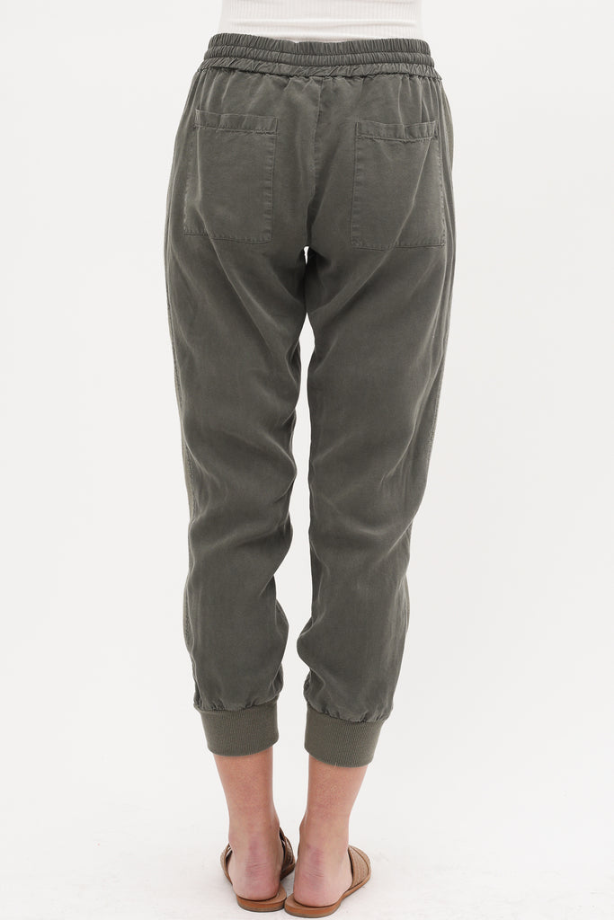 Monochrome Stripe Easy Chic Jogger Pant (Avail Black Or Olive)