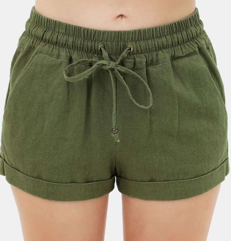Classic Linen Short 3 Colors (Olive, Black, Terracotta)