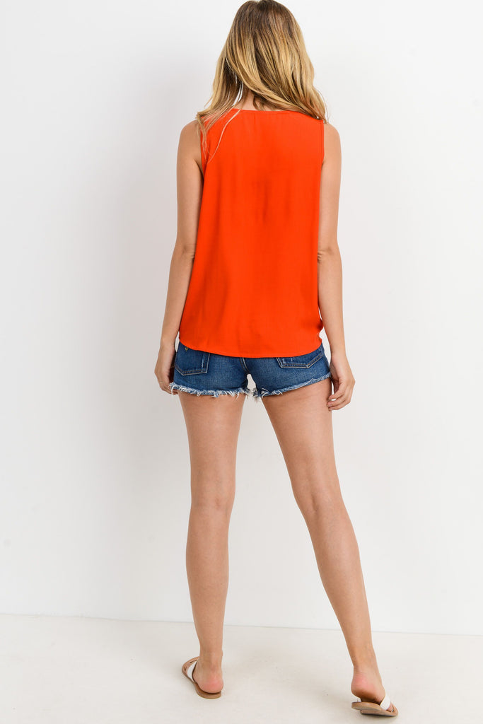 Brunch Date Two Pocket Tank In Paprika or Sand
