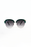 Midcentury Modern Sunglasses: Teal/Gold