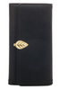 Golden Leaf Clasp Wallet In Black Or Brown