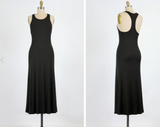 Essential Soft Racerback Jersey Maxi Dress (Available in Black or Ash Blue)