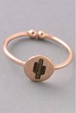 Cactus Ring In Gold