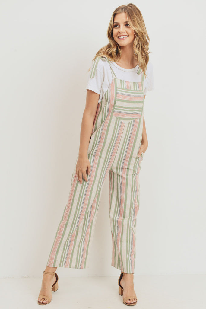 Summer Stripes Light Weight Cotton Overalls