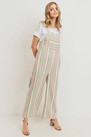 Walk With Me Striped Jumpsuit