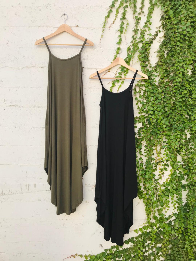 Grace Jersey Maxi Dress in Black